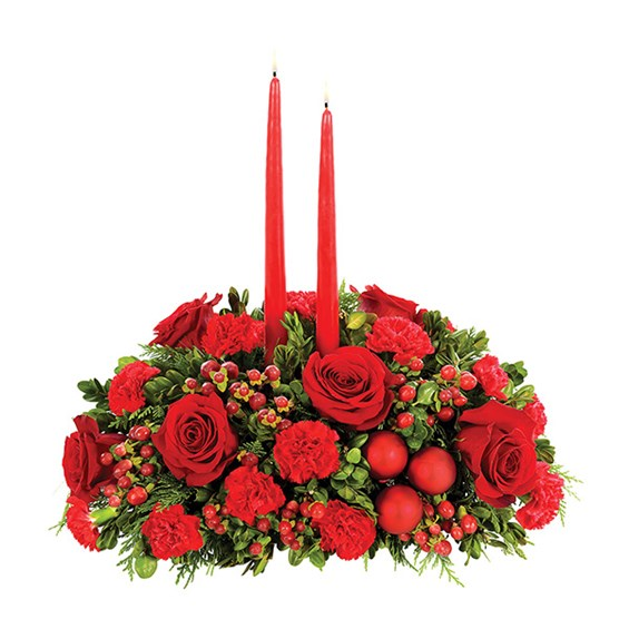 Red & Green Christmas Centerpiece (BF285-11)
